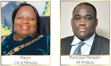 King Cetshwayo District Municipality Mayor: Cllr Nonhle Mkhulisi and Municipal Manager: Mr Mandla Nkosi