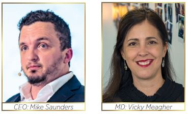 Digitlab CEO:Mike Saunders and MD:Vicky Meagher