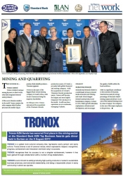 KZN Top Business Awards 2017 : Mining and Quarrying : THE WINNER IS Tronox Limited
