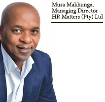 Musa Makhunga, Managing Director - HR Matters (Pty) Ltd : Engaging In Conversation Leadership Results In Sustainable solutions And Outcomes