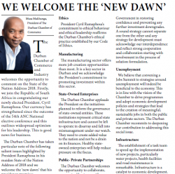 Musa Makhunga - We Welcome The New Dawn