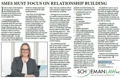 Nicolene Schoeman-Louw - SMEs Must Focus On Relationship Building