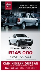 CMH Nissan Durban - THE NISSAN NP200 1.6 SPECIAL, GET YOURS TODAY!