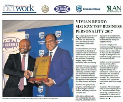 KZN Top Business Awards : Vivian Reddy : SLG KZN Top Business Personality 2017