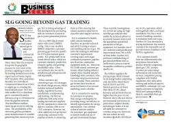 Nkosinathi Solomon, Group CEO of SLG - SLG Going Beyond Gas Trading
