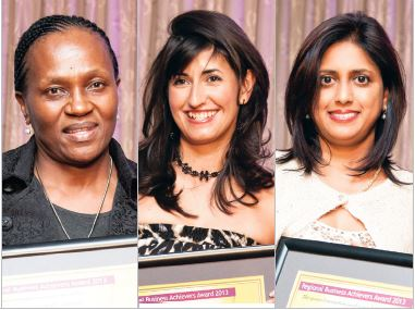 Business Womens Association: Left to right: Dr May Mkhize, Antoinette Irvine and Amantha Maharaj