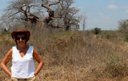 Illovo:PICTURED is the founder of the Trust, Ruth Markus (see: http://www.ameca.org.uk/), who is standing to the left of the donated community land on which the clinic is to be built.