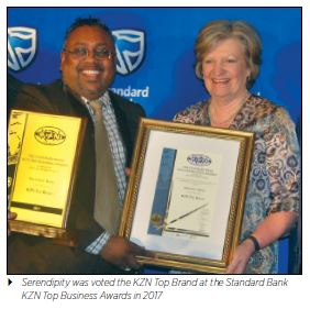 Serendipity was voted the KZN Top Brand at the Standard Bank KZN Top Business Awards in 2017