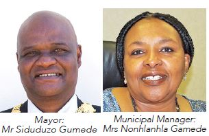 iLembe District Municipality Mayor Cllr Siduduzo Gumede and Municipal Manager Mrs PN Gamede