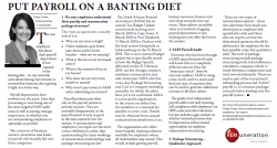 Tanya Tosen - Put Payroll On A Banting Diet