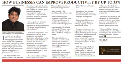 Theasen Pillay - How Business Can Improve Productivity By Up To 35%