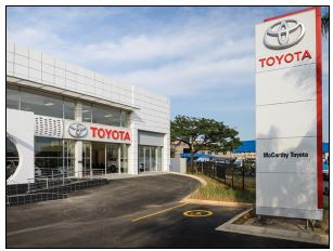 Toyota dealership, a J.T. Ross investment