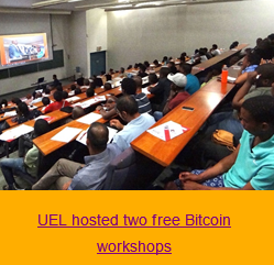 UKZN - UEL hosted two free Bitcoin workshops