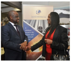 RICHARDS BAY IDZ LOOKS AT ALUMINIUM HUB:Pumi Motsoahae, CEO RBIDZ and Lulu Letlape, Vice President - Corporate Affairs South32