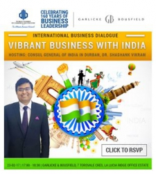 Durban Chamber - International Business Dialogue: Vibrant Business with India - 23 February