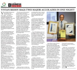 Edison Power Group - Vivian Reddy Bags Two Major Accolades In One Night!