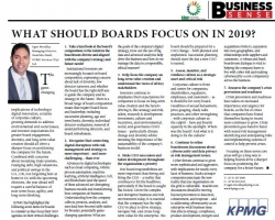 What Should Boards Focus On In 2019? - Ugen Moodley