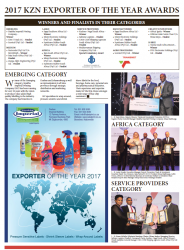 2017 KZN Exporter Of The Year Awards - Winners And Finalists In Their Categories