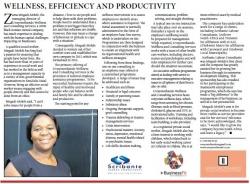 Zama Mngadi-Molefe - Wellness, Efficiency And Produtivity
