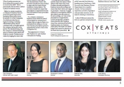 Thys Scheepers, Partner and Team Leader Callyn Wilkinson, Partner Nkosinathi Gobhozi, Partner Tasmiya Patel, Associate Carla Bishop, Candidate Attorney