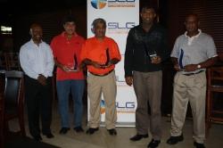 SLG Customer Golf Day at Zimbali:Winners, Mr Neville McCartney, Mr Marlin Poovan, Mr Mark Naidoo and Mr Mukesh Akoobhai