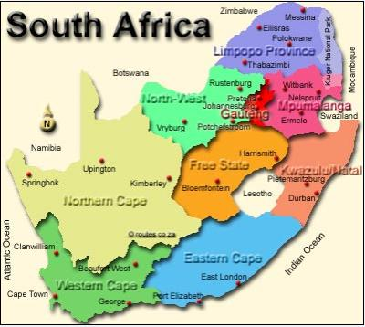 South Africa Map Provinces And Capitals Campinglifestyle