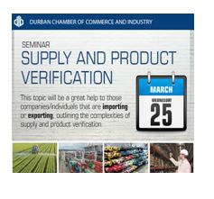 Durban Chamber - Supply and Product Verification